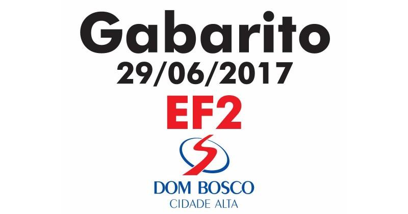 [Gabarito Simulado EF2 DBCA - 29/06/2017]