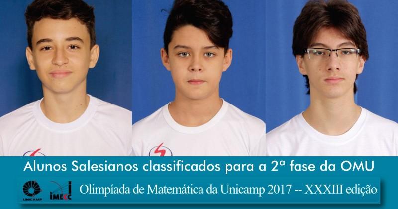 [Olimpíada de Matemática da Unicamp 2017 DBCA]