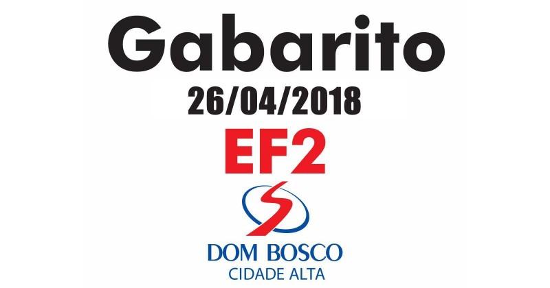 [Gabarito Simulado 26/04/2018 - EF2 Dom Bosco Cidade Alta]