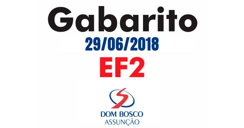 [Gabarito Simulado EF2 - 29/06/2018 - DBA]