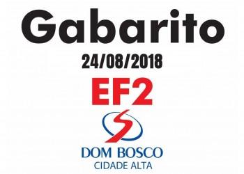 [Gabarito Simulado 24/08/2018 - EF2 Dom Bosco Cidade Alta]