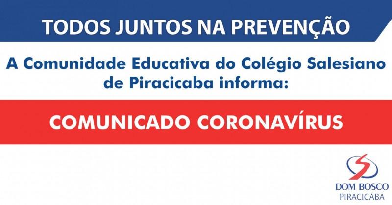 [Comunicado Coronavírus]
