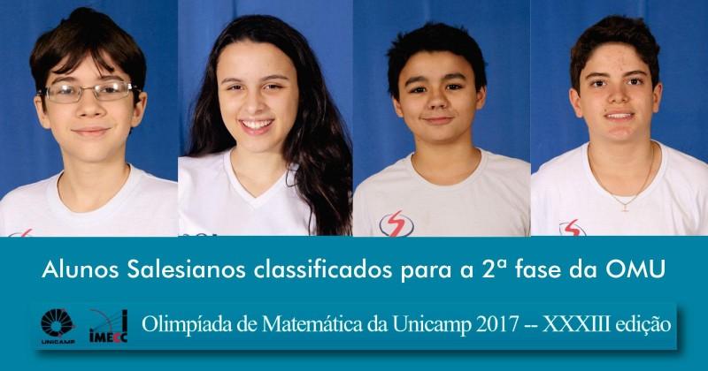 Olimpíada de Matemática da Unicamp 2017