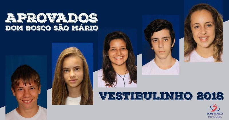 Aprovados Dom Bosco São Mário