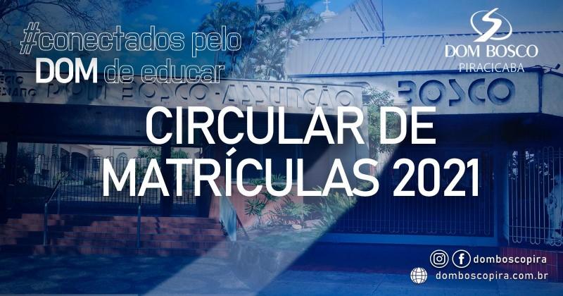 Circular de Matrículas 2021