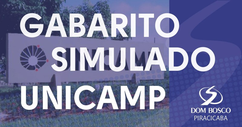 Gabarito Simulado Unicamp