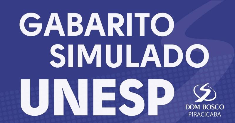 Gabarito Simulado Unesp