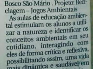 Dom Bosco São Mário é premiado