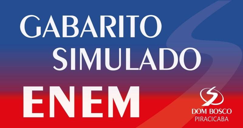 Gabarito simulado Enem