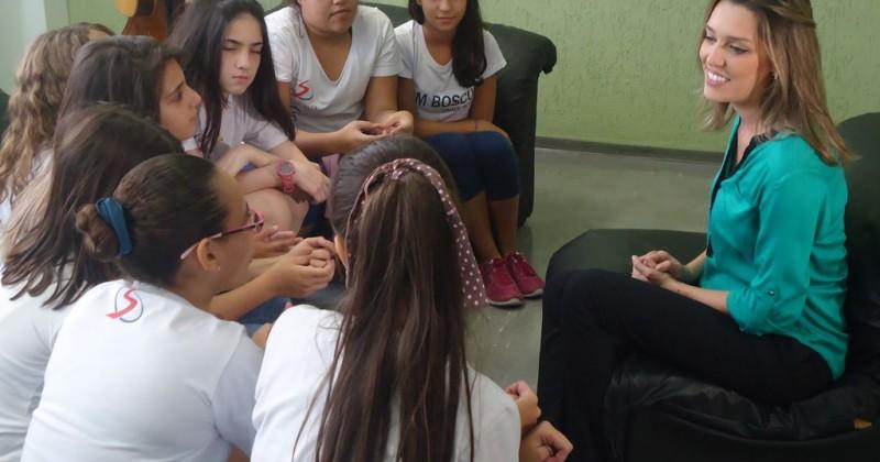 Alunas participam de entrevista na EPTV sobre a Vacinação contra HPV